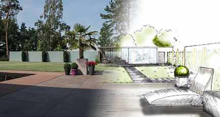 Puristisch-Modern-Glaswaende-Gartenplanung-Wellness-Pool